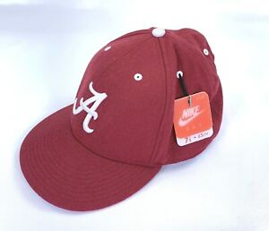 Nike 643 Alabama Crimson Wool Red Cap Fit 7 7/8 Hat Fitted Football Team Fan 63c
