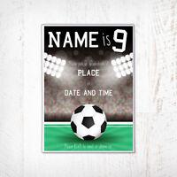 Football Birthday Invitation, Football, Football Party Invitation, Personalised