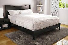 3 Piece Black Queen Size Panel Platform Bed Set Home Living Bedroom Furniture