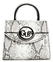 NWT GUESS SKYLAR HANDBAG Mini Snakeskin Logo Satchel Crossbody Bag GENUINE