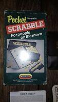 Vintage Pocket Magnetic Travel Scrabble Game Spear's Games Boxed Complete 1004