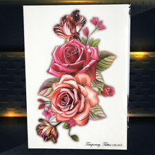 Temporary Sexy Rose Flower Arm Tattoo Women Body Back Art Makeup Tatoo Stickers