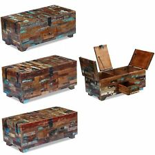 Coffee Table Box Chest Case Storage Organiser Furniture Solid Reclaimed Wood New