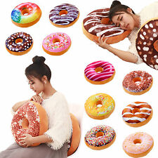 Doughnut Shaped Stuffed Cushion Throw Pillow Waist Pillow Case Donut Plush Toys