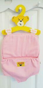 BUILD A BEAR 💗Girls Pink Baby Carrier Sling Bag Adj Strap Backpack Gift Present