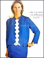 "Knitting Pattern • Ladies Skirt Suit • Zig-Zag Edge Jacket • Blouse 4 Ply 34-40"""