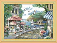 "Joy Sunday Counted Cross Stitch Kit - The Seaside Cafe 17.7""x13.7"" 14 CT Fabric"