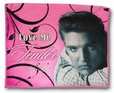 "New Elvis Presley Love Me Tender 24"" Kitchen Dish Towel The King Photo Pink NIP"