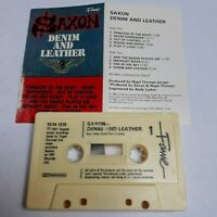 SAXON DENIM AND LEATHER CASSETTE TAPE EMI FAME UK 1981