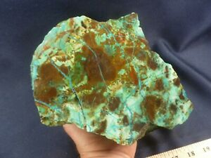 CSS: 9.8 lb Piece Of Chrysocolla & Azurite Rough Lapidary Rock