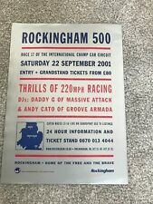 2001 Rockingham 500 A4 Promotional Fly