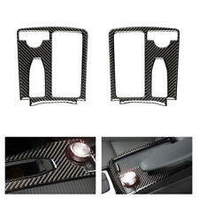 L/RHD Carbon Fiber Central Control Water Cup Panel Cover For Mercedes Benz W204