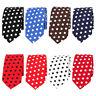 Mens Linen Cotton Polka Dots Necktie Casual Tuxedo Neck Tie Wedding Business Tie