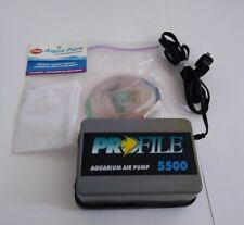 TESTED Profile 5500 Air Pump Aquariums, Ponds, Hydroponics w/ Accessories