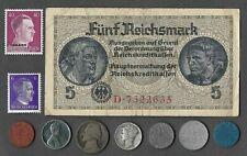Rare US WWII Coin Collection German Stamp War Lot Silver Mercury War Nickel 505
