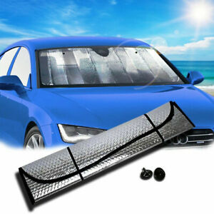 Foldable Auto Windshield Sun Shade Car Cover both side aluminum 130*60 cm