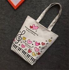 Music Women Tote Bag Shoulder Bag Handbag Canvas