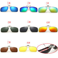 8 Colors Men/Women Polarized UV400 Lens Clip-on Flip-up Myopia Sunglasses 87JQD