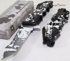 Official Licensed US ARMY Winter Snow Camo Tactical Rescue Spring Assisted Knife