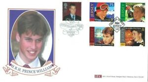 2000 Queen Mother, BHC Prince William Official FDC Doubled with Jersey Issue