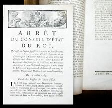 1785 Reprints and Copyright Booksellers in Nancy Lorraine Royal Decree