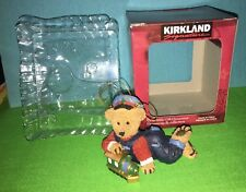 Kirkland Signature Collectible Gift Christmas Boy Bear w Train Ornament