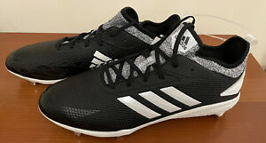 Adidas Men's Adizero Afterburner V Size 14 Metal Black/White(CG5218) Brand New
