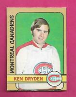 1972-73 OPC # 145 CANADIENS KEN  DRYDEN  2ND YEAR VG+ CARD (INV# D1179)