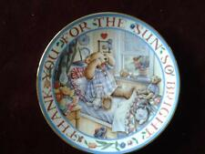FRANKLIN MINT PLATE RISE AND SHINE TEDDY