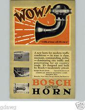 1925 PAPER AD Bosch Trafic Tuned Horn Car Auto Automobile Ford Ignition Magneto