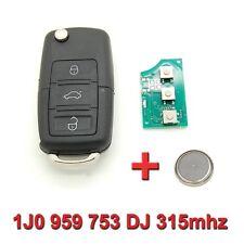 Clé avec électronique vierge Volkswagen Polo Passat Golf 1J0 959 753 DJ 315mhz