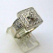14K White Gold Diamond Ring 0.50 ct Not Enhanced Ring Size 8.5 14KT  New