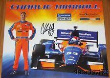 2014 Charlie Kimball signed Novo Nordisk Chevy Dallara Indy Car postcard