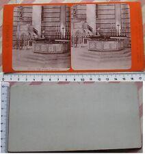 Stereofoto Pisa Interno del Battistero - Casa Ed. G. Brogi fine '800