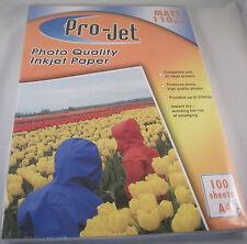 100 SHEETS PROJET MATT PHOTO PAPER PROJET A4 110gsm