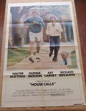 House Calls Movie Poster, Original, Folded, One Sheet, Walter Matthau, 1978, USA