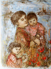 Lorelei & Child by Edna Hibel - Limited Edition Hand Signed and Numbered