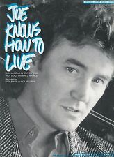 Joe Knows How To Live - Eddy Raven - 1987 Sheet Music