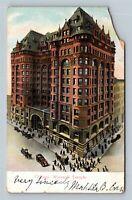 Chicago IL, Woman's Temple, Automobiles, Vintage Illinois Postcard