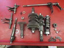 1989 Suzuki LT160E transmission and shift linkage assembly