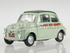 Fiat 500 Abarth Record 1958 grey diecast model car Brumm 1/43 made in italy