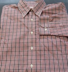 Brooks Brothers Men's  Sz Large Long Sleeve Button-Front Colorful Checks