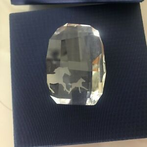 Swarovski Crystal Horse Paperweight - Comes with box - Never Used