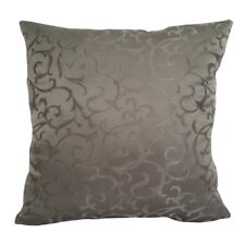 Satin Leaves Pattern 20x20 Smoke Gray Decorative/Throw Pillow Case/Cushion Cover