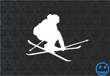 Skiing Sticker Decal 130mmW SKI X Car Van Helmet Laptop Tablet Rossignol K2 Head