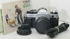 New listing Canon Ae-1 Program w Fd 50mm f1.8 lens, caps, strap, battery, Im, new seals