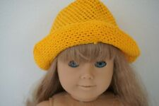 American Girl Pleasant Company Culotte Dress Hat ONLY Yellow Yarn Floppy TLC