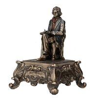 "6"" Ludwig Van Beethoven Music Box Musician Statue Sculpture"