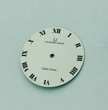 UNIVERSAL GENEVE GOLDEN SHADOW 27 MMS WHITE ROMAN DIAL VINTAGE REPLACEMENT