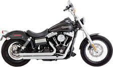 Vance & Hines Chrome Big Shots Staggered Exhaust System 06-17 Harley Dyna FXD